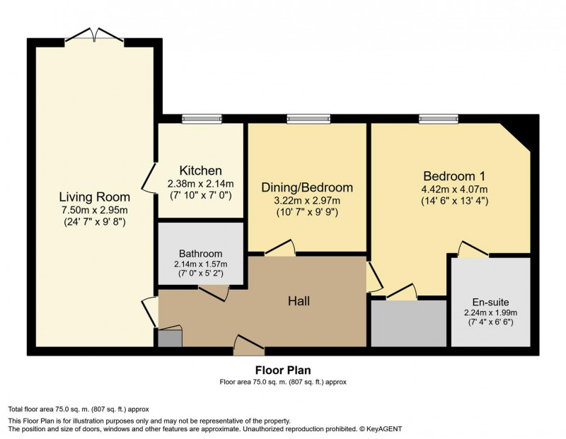 Floorplan for Dugdale Court, Coventry Road, Coleshill, Birmingham