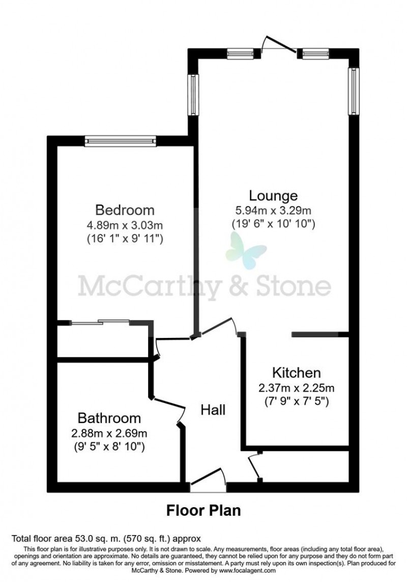 Floorplan for Farringford Court, Avenue Road, Lymington