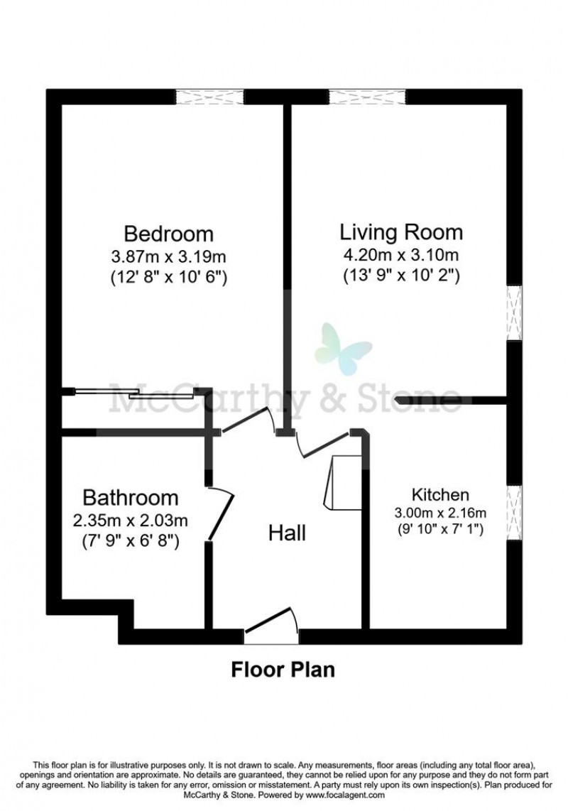 Floorplan for Cartwright Court, 2 Victoria Road, Malvern
