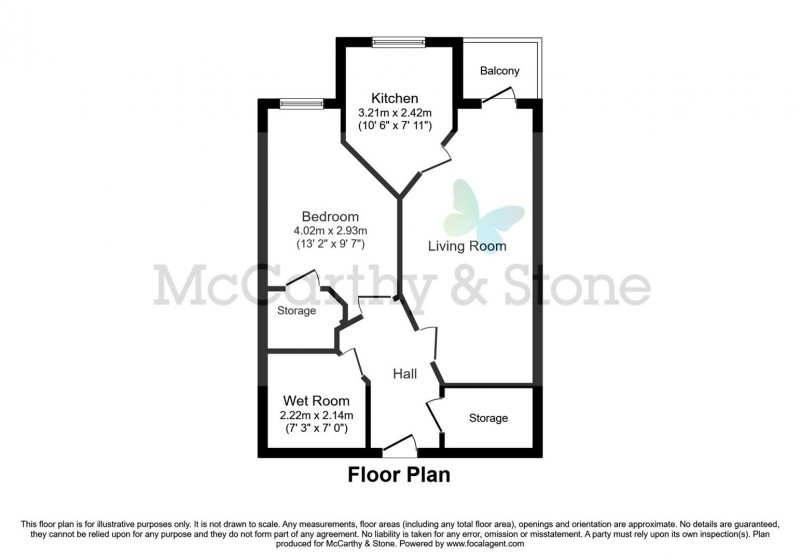 Floorplan for Williams Place, 170 Greenwood Way, Harwell