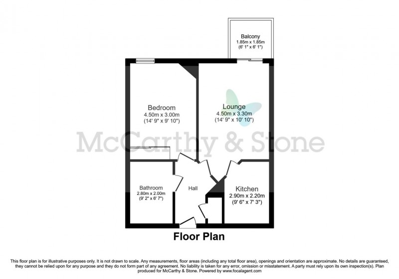 Floorplan for Cherret Court, Ferndown, Dorset