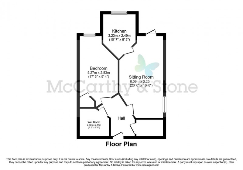 Floorplan for Williams Place, Greenwood Way, Harwell, Didcot