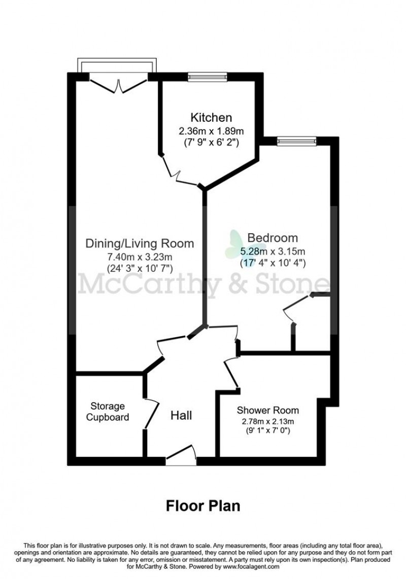 Floorplan for Marbury Court, Chester Way, Northwich, Cheshire, CW9 5FQ