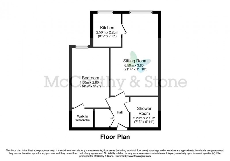 Floorplan for Williams Place, 170 Greenwood Way, Harwell, Didcot, Oxfordshire, OX11  6GY
