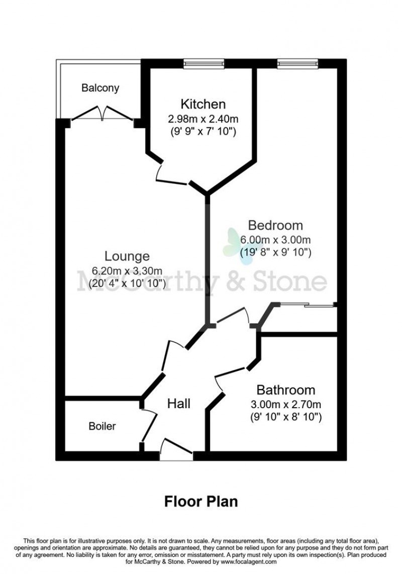 Floorplan for Wilton Court, Southbank Road, Kenilworth, Warwickshire, CV8 1RX