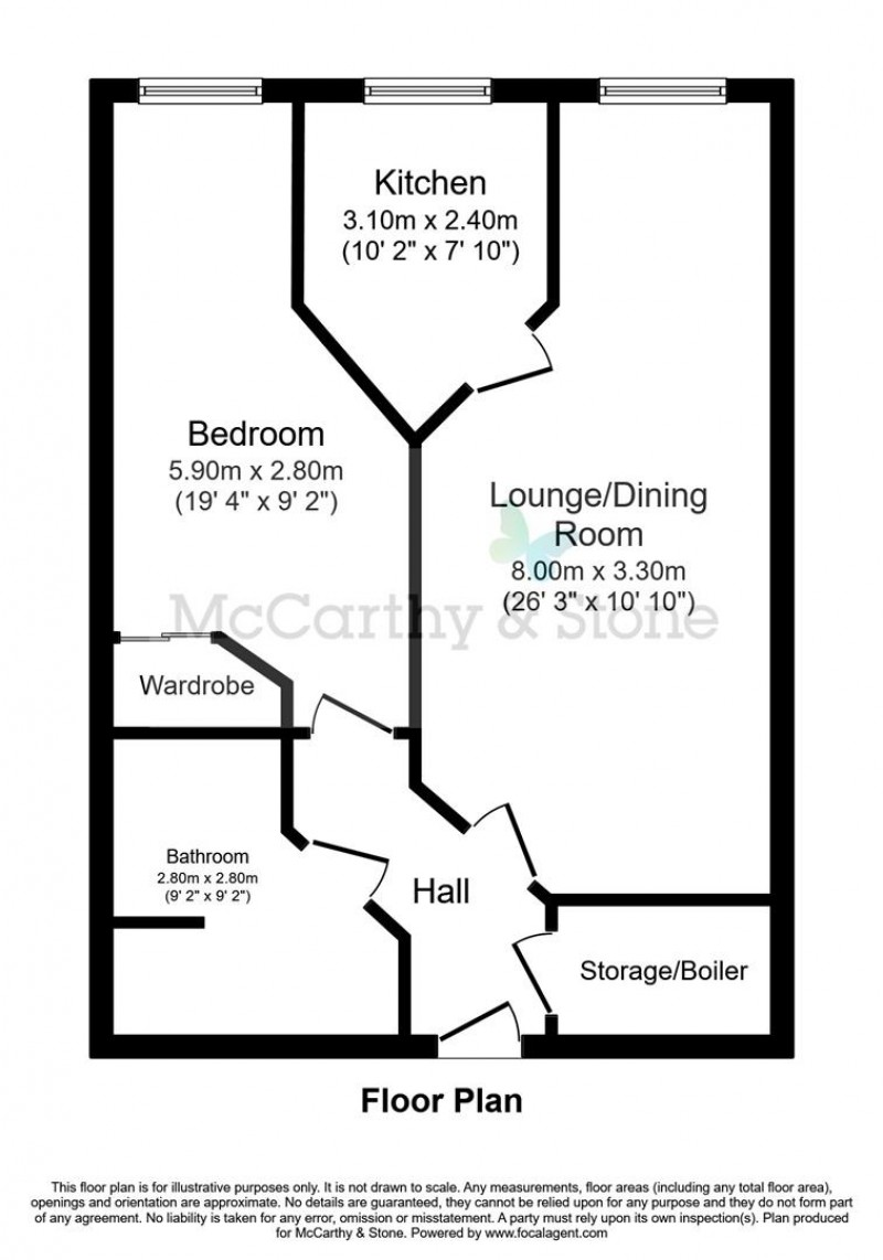 Floorplan for Wilton Court, Southbank Road, Kenilworth, CV8 1RX