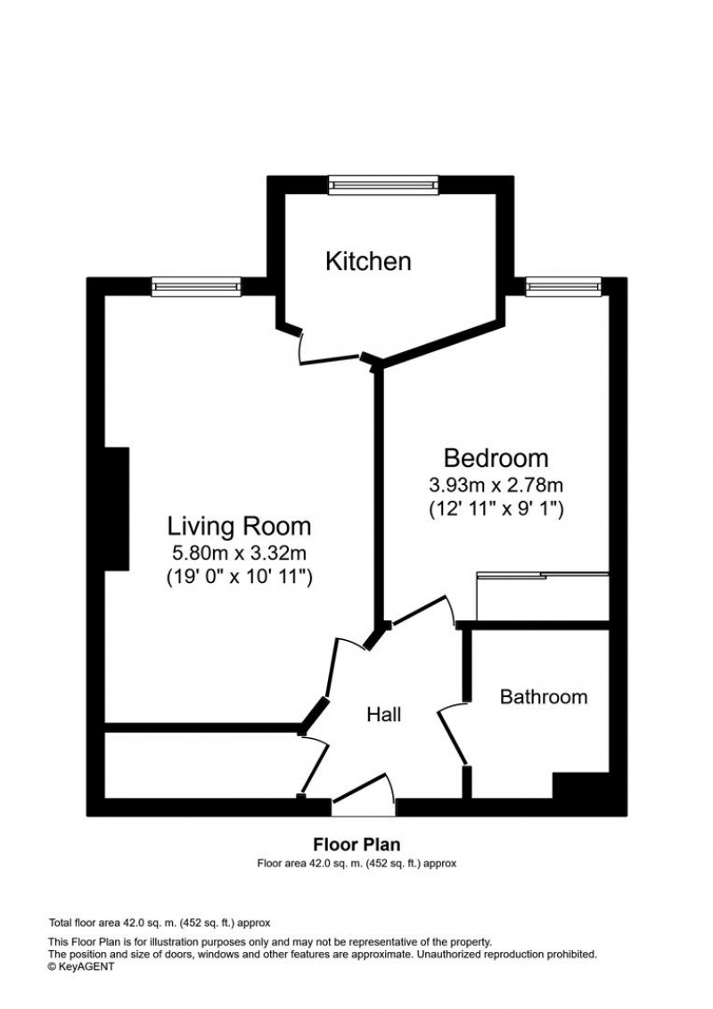 Floorplan for Wingfield Court, Lenthay Road, Sherbourne.