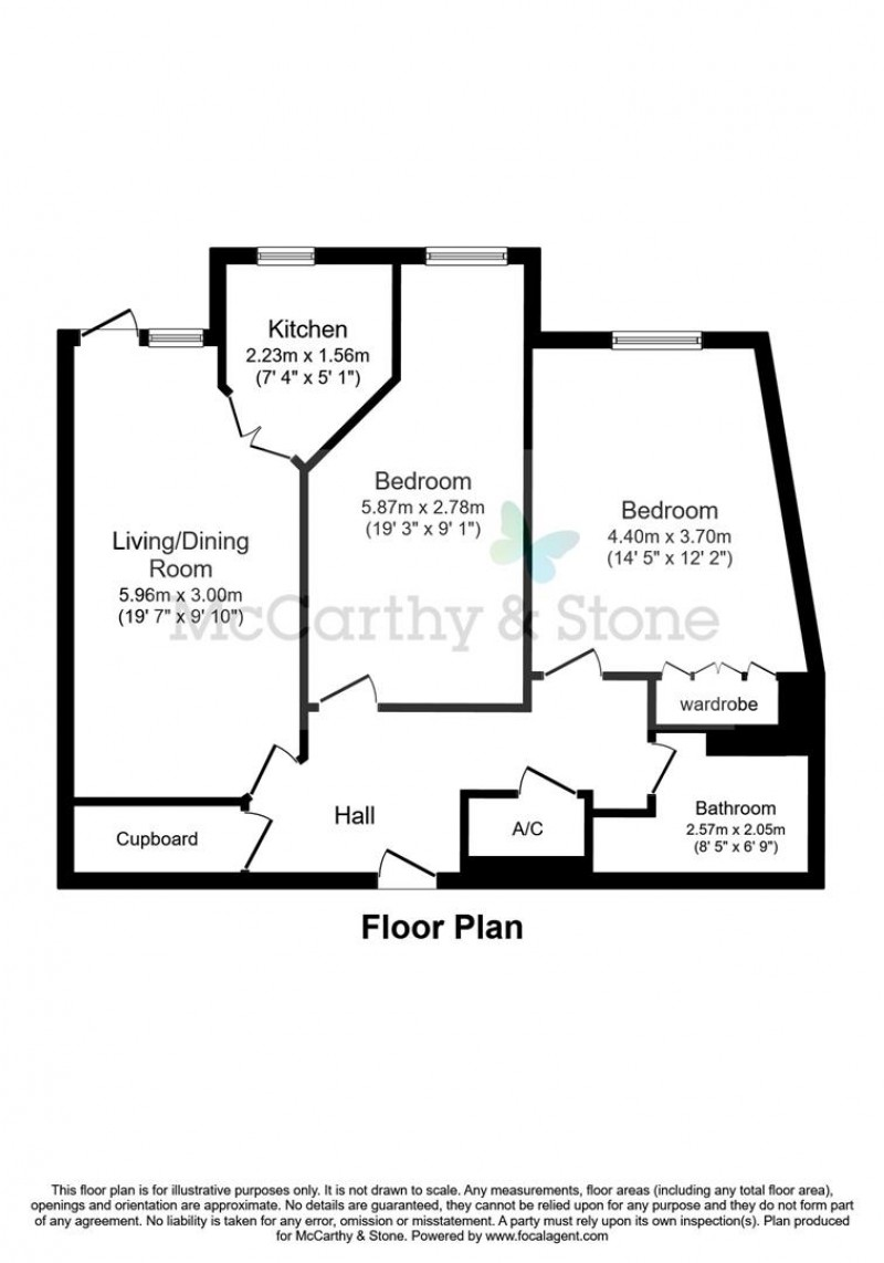 Floorplan for North Gate Court, Shortmead Street, Biggleswade, Bedfordshire, SG18 0FE