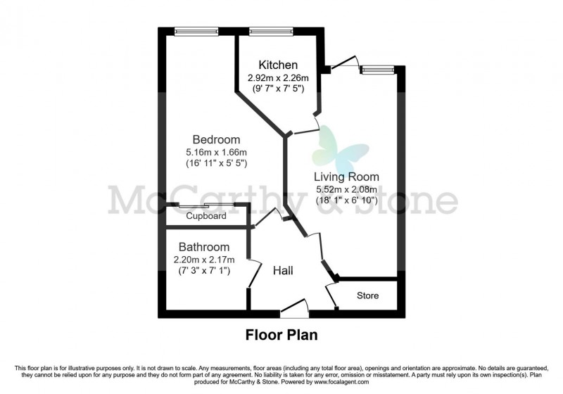 Floorplan for Henshaw Court, Chester Road, Castle Bromwich, Birmingham, B36 0JQ