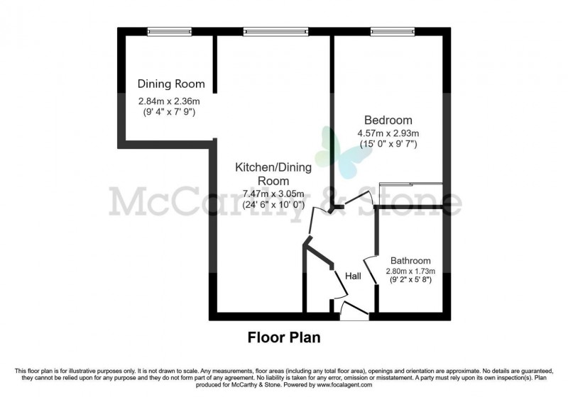 Floorplan for Jockey Road, Sutton Coldfield