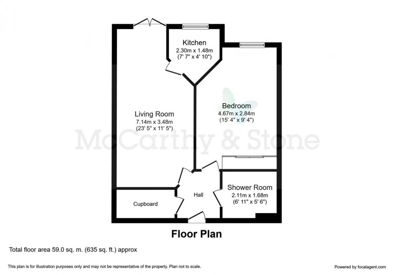 Floorplan for Speakman Court, 3 Hazel Road, Altrincham