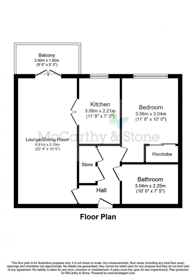 Floorplan for Ravenshaw Court, Four Ashes Road, Bentley Heath, Solihull, West Midlands, B93 8NA