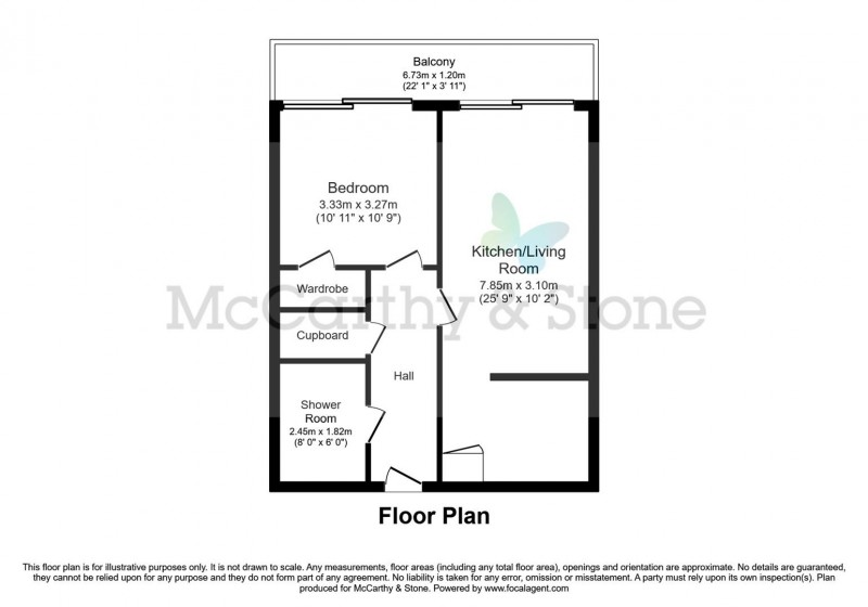 Floorplan for Meadows House, Walton-On-Thames, Surrey, KT12 1PG