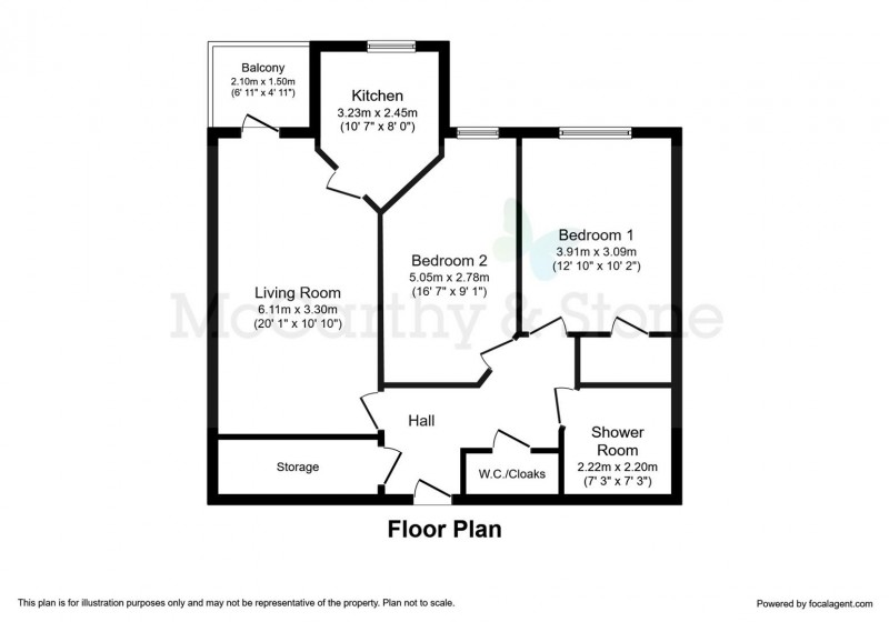 Floorplan for WIlliams Place, 170 Greenwood Way, Great Western Park, Didcot OX11 6GY