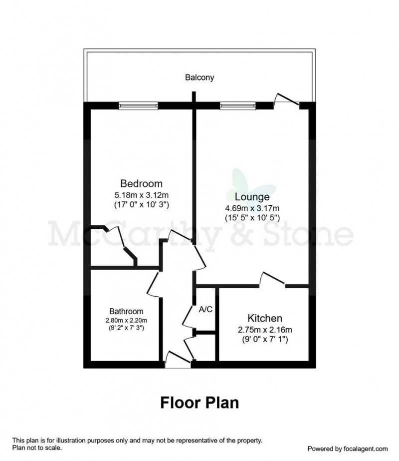 Floorplan for Elizabeth House, Vicarage Road, Stony Stratford, Milton Keynes, Buckinghamshire, MK11 1HT