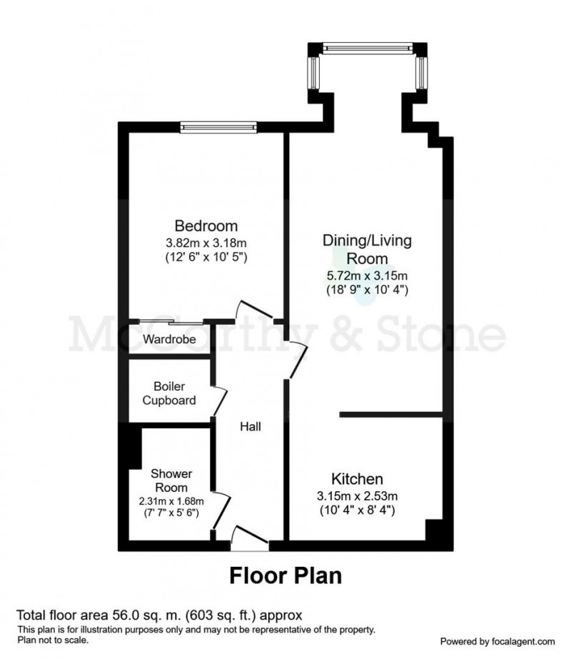 Floorplan for Justice Court, Holt Road, Cromer, Norfolk, NR27 9EL