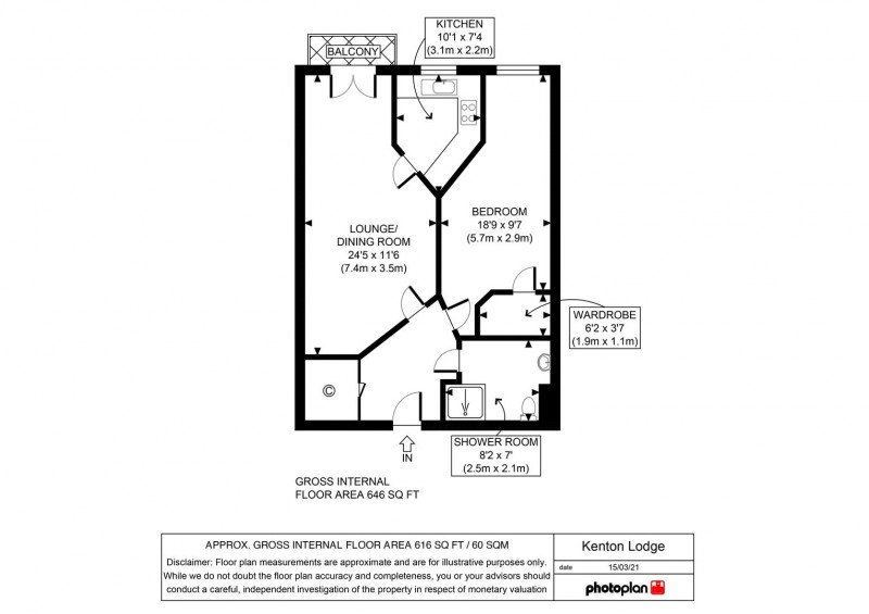 Floorplan for Kenton Road, Gosforth, Newcastle Upon Tyne