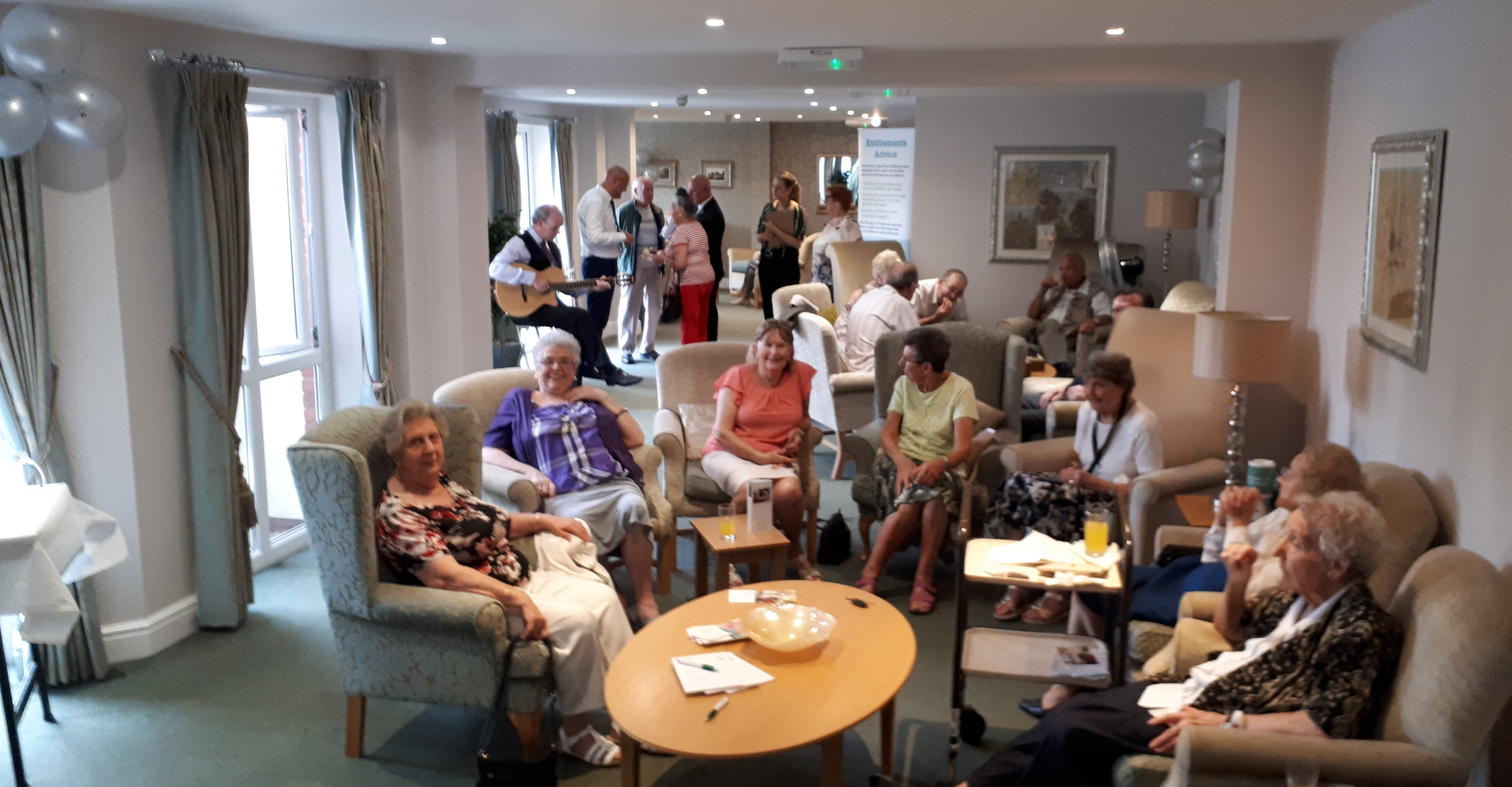POPPY COURT HOMEOWNERS WELCOME VISITORS FOR AFTERNOON TEA AND ENTERTAINMENT